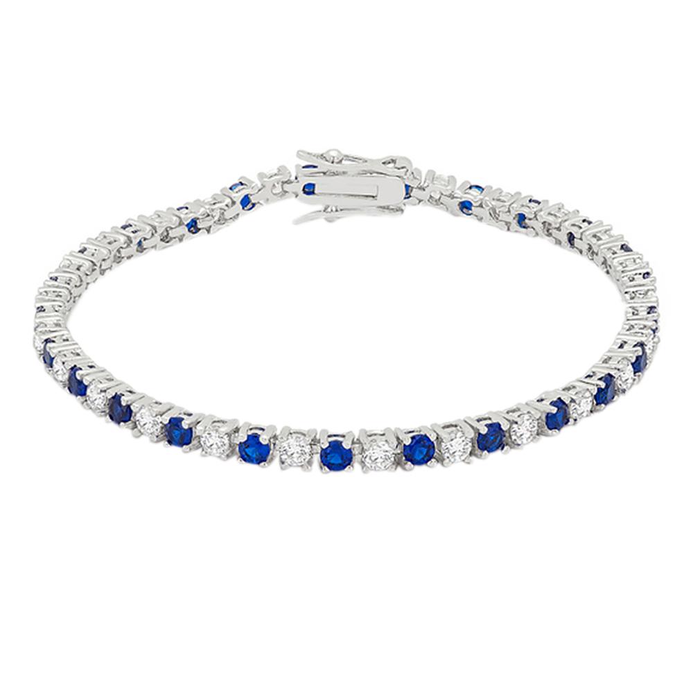 J Goodin Sapphire Blue Cubic Zirconia Tennis Bracelet by J Goodin