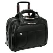 "McKlein, R Series, CHICAGO, Top Grain Cowhide Leather, 17"" Leather Patented Detachable -Wheeled Laptop Overnight with Removable Briefcase"