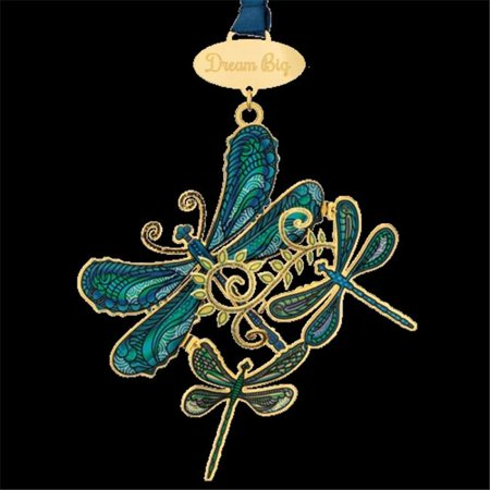 Chem Art 59988 4.25 in. Breezy Dragonfly Collage Dream Big Nature Handcrafted Christmas Ornament - image 1 de 1