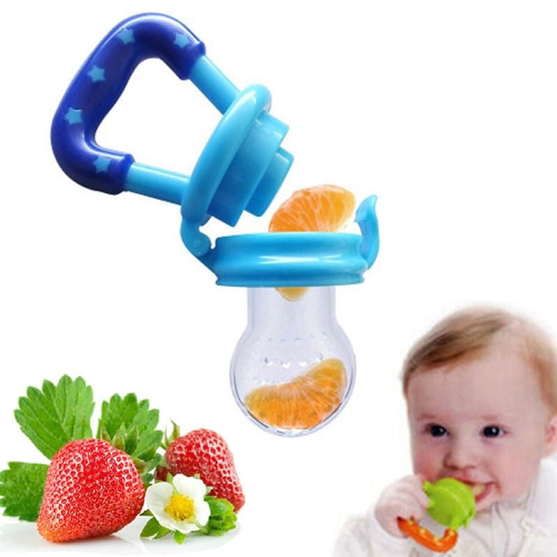 Baby Toddle Feeding Pacifier Soother Fruit Feeder Bite Nipple Eat Assist Machine