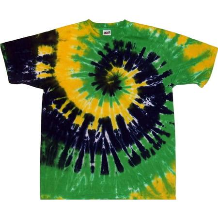 Tie Dyed Shop Mardi Gras Spiral Tie Dye T Shirt (Mardi Gras Tie Dye)