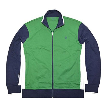 Polo Ralph Lauren Mens Full-Zip Interlock Track Jacket (Small, Wexford Green Multi)