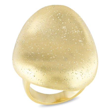 Tangelo Gold-Plated Brass Abstract Cocktail Ring