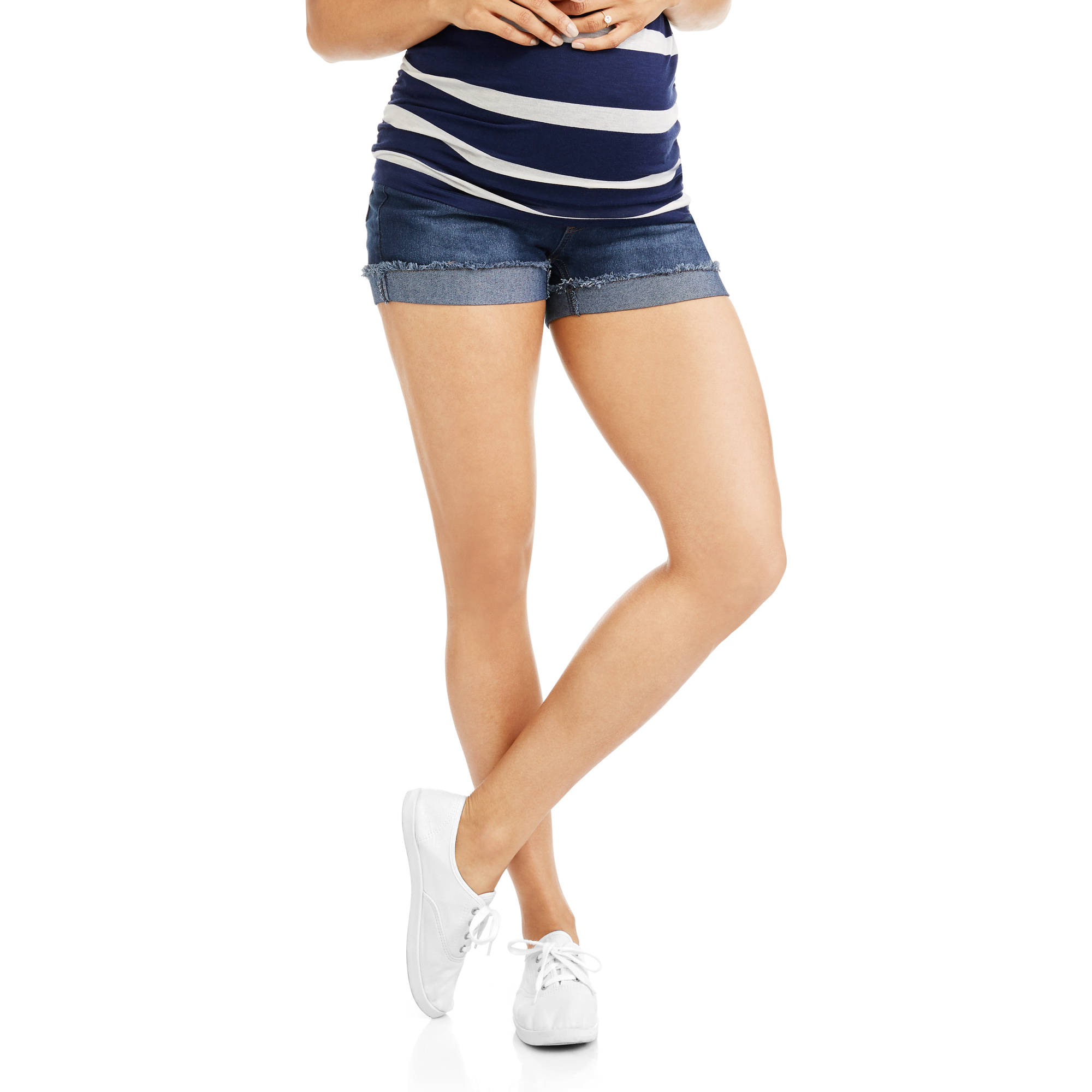 Oh! Mamma Maternity Over-Belly Denim Shorts
