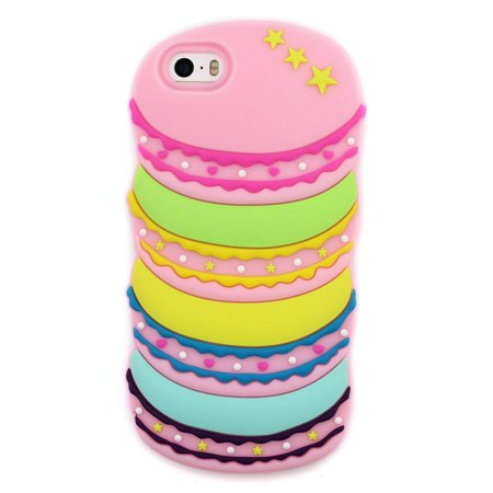 watch a499b 9b73c Case for iPhone 4S, for iPhone 4, 3D Cute Cartoon Rainbow Food ...