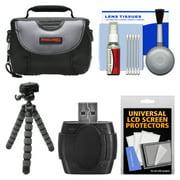 Essentials Bundle for Samsung HMX-F90, Q20, QF20, QF30 HD Camcorder with Case + Flex Tripod + Accessory Kit
