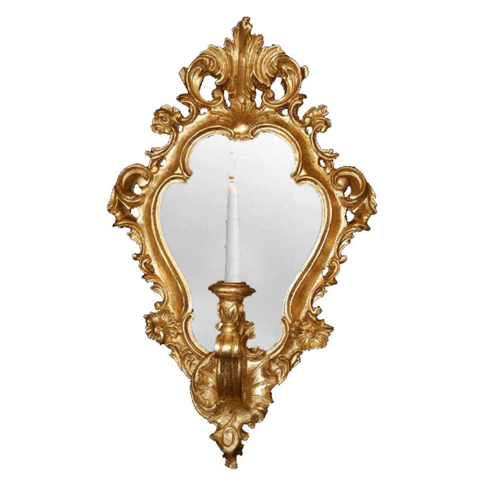 Hickory Manor House Regence Candle Sconce Mirror 13W x 22H in. by Hickory Manor Home