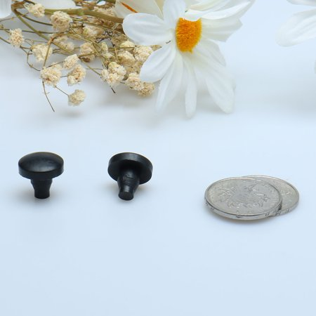 24pcs 7mm Stem Bumpers Glide, Patio Outdoor Furniture Glass Table Top Embedded Black - image 2 de 4