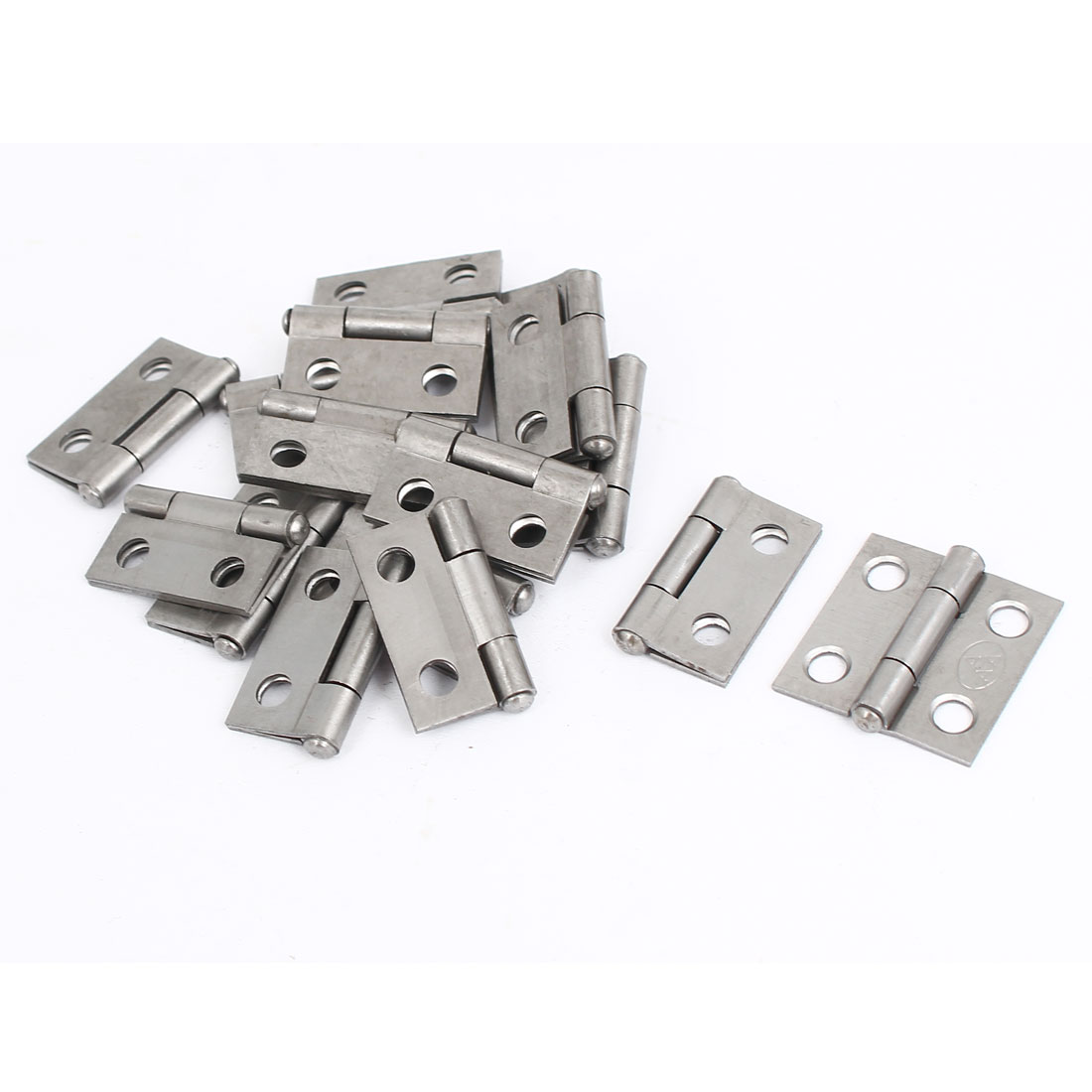 """Uxcell Cabinet Furniture Hardware Folding Door  Hinges Silver Gray 1"""" Long 16pcs - image 1 of 1"""