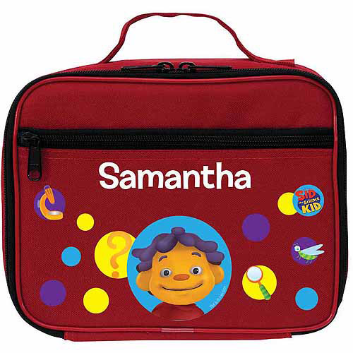 Personalized Sid the Science Kid Ask Questions Red Lunch Bag