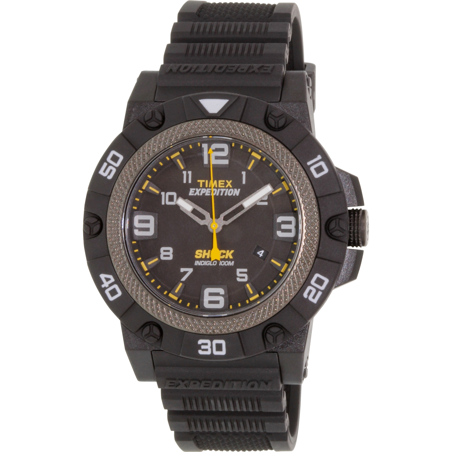 Timex Men's Expedition TW4B01000 Black Rubber Analog Quartz Sport Watch by Timex