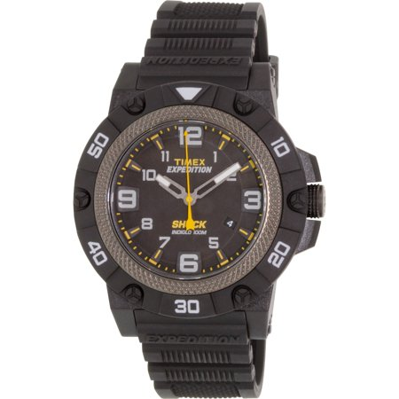 Black Rubber Watch - Timex Men's Expedition TW4B01000 Black Rubber Analog Quartz Sport Watch
