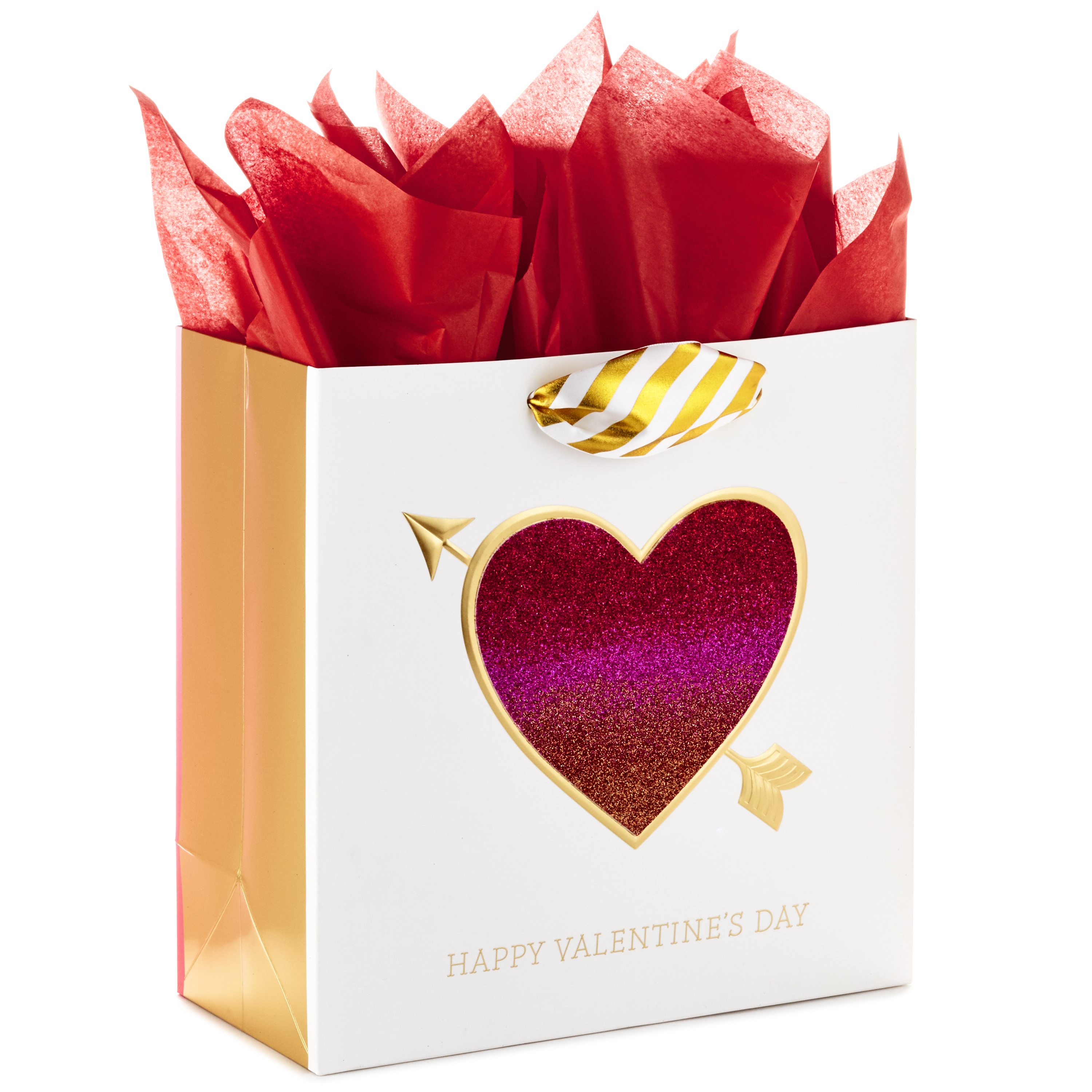 Hallmark Signature Large Valentine's Day Gift Bag with Tissue Paper (Glitter Heart)