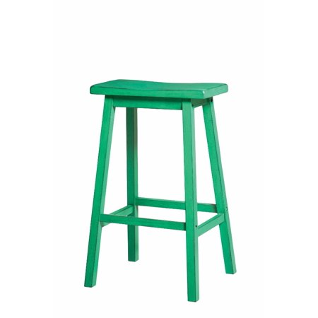 Wooden Bar Stool (Set-2), Antique Green ()