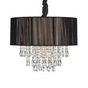 Avenue Lighting Vineland Ave. 6 Light 19 inch Black Silk String Hanging Chandelier Ceiling Light