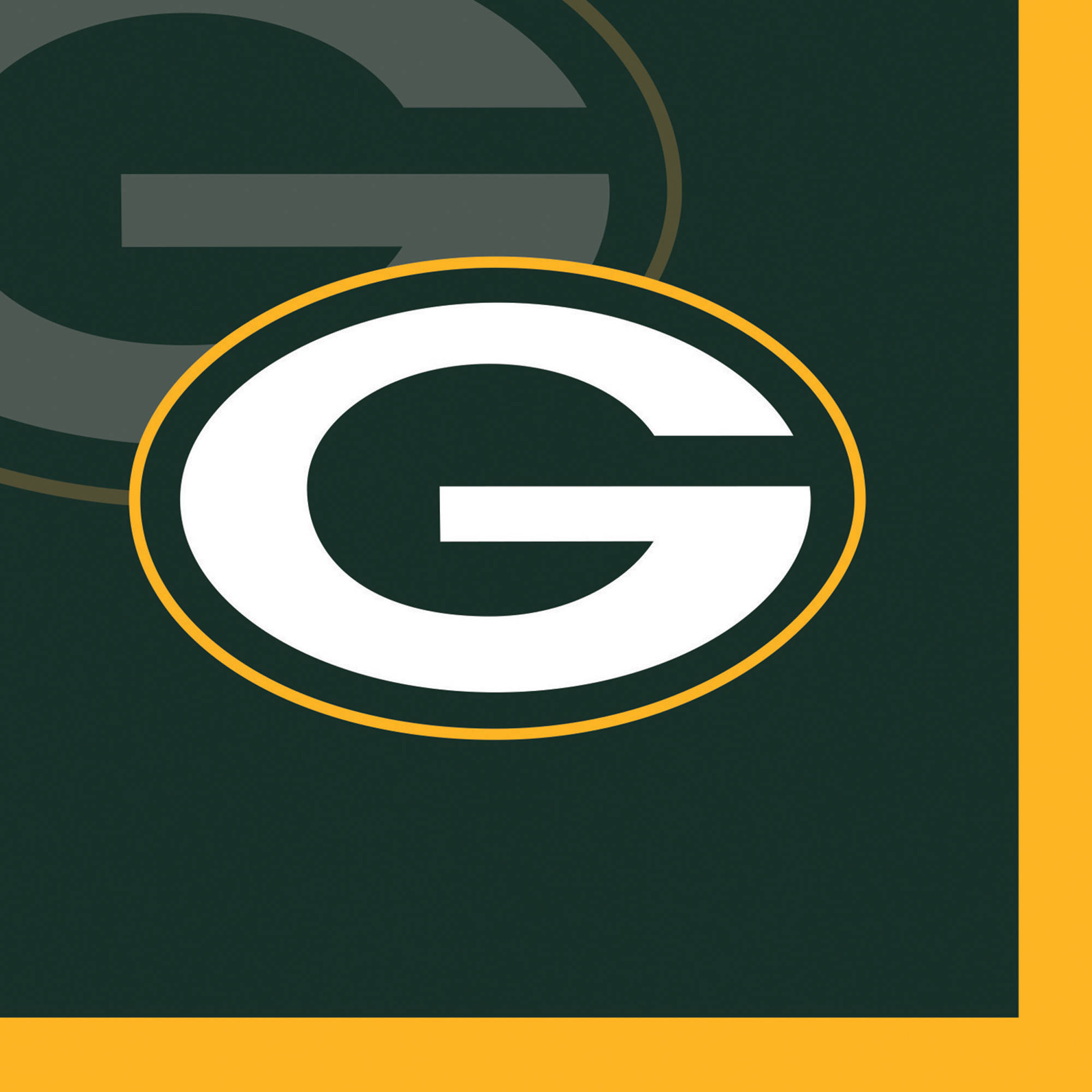 Green Bay Packers Beverage Napkins, 16-Pack