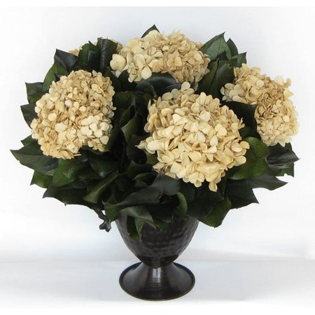 Bougainvillea Metal Trophy Small Vase with Hydrangea (Small Trophies)