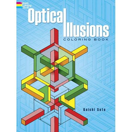 Illusions Coloring Book (Dover Design Coloring Books: Optical Illusions Coloring Book (Paperback) )