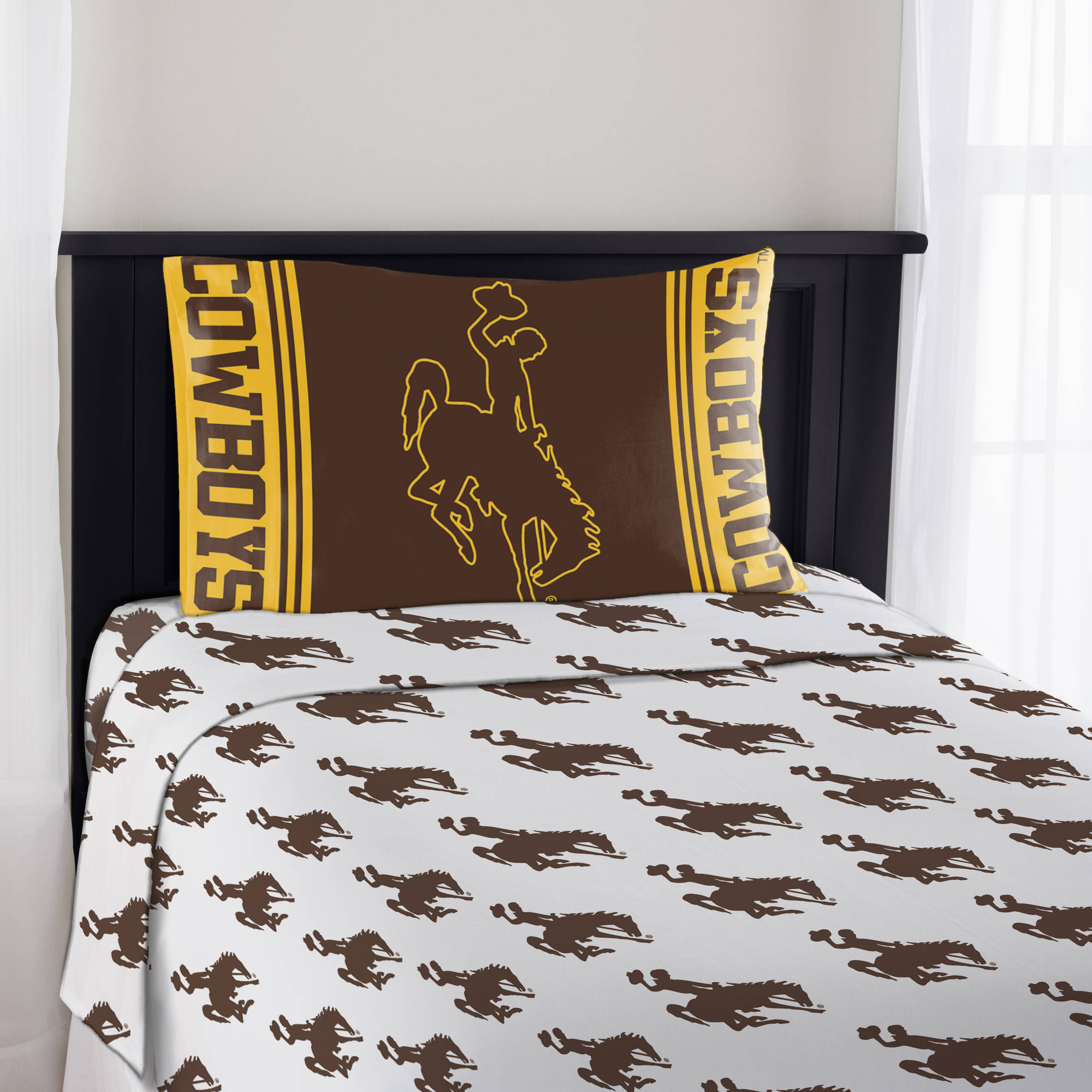 "NCAA Wyoming Cowboys ""Mascot"" Sheet Set"