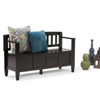 Simpli Home Brooklyn Entryway Storage Bench