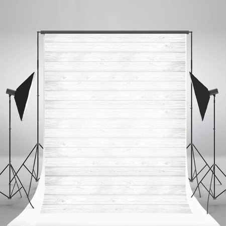 XDDJA Polyester Fabric 5x7ft Photography Backdrop Mondern Style White Wood Board Theme for Children Baby Photo Background Studio Props - image 1 of 2
