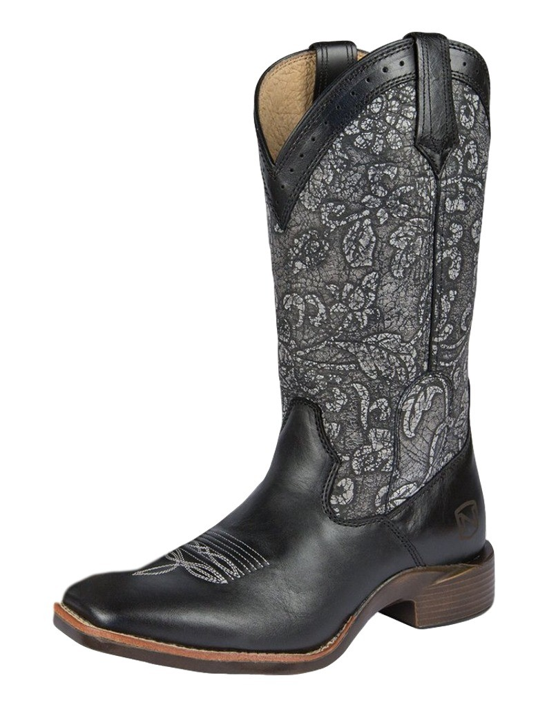 Noble Outfitters Western Boots Womens All Around Floral Embossed 66025