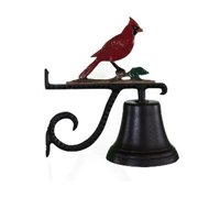 Montague Metal Products CB-1-25-NC Cast Bell With Natural Color Cardinal Ornament