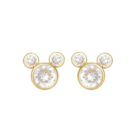 - 10KT Yellow Gold Mickey Mouse Earrings