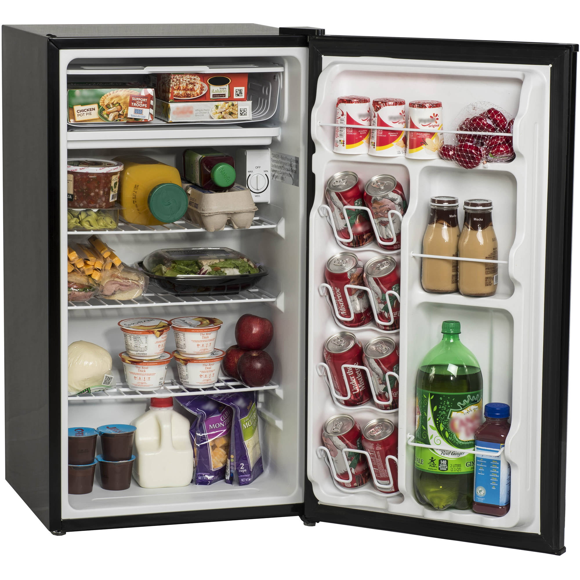 Arctic King 3.3 Cu Ft Single Door Mini Fridge 17.70 x 18.60 x 33.90 Inches, Stainless Steel Look