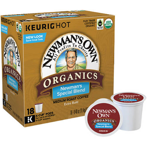 Keurig K-Cups, Newman's Own Organics Special Blend Extra Bold, 18 ct
