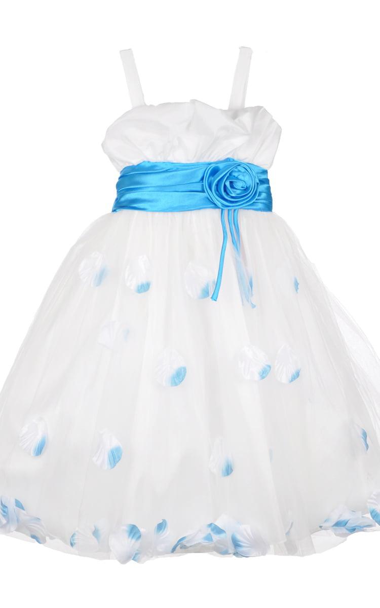 Dollhouse Miniature Artisan Little Girl/'s Aqua Dress with Lace Overlay