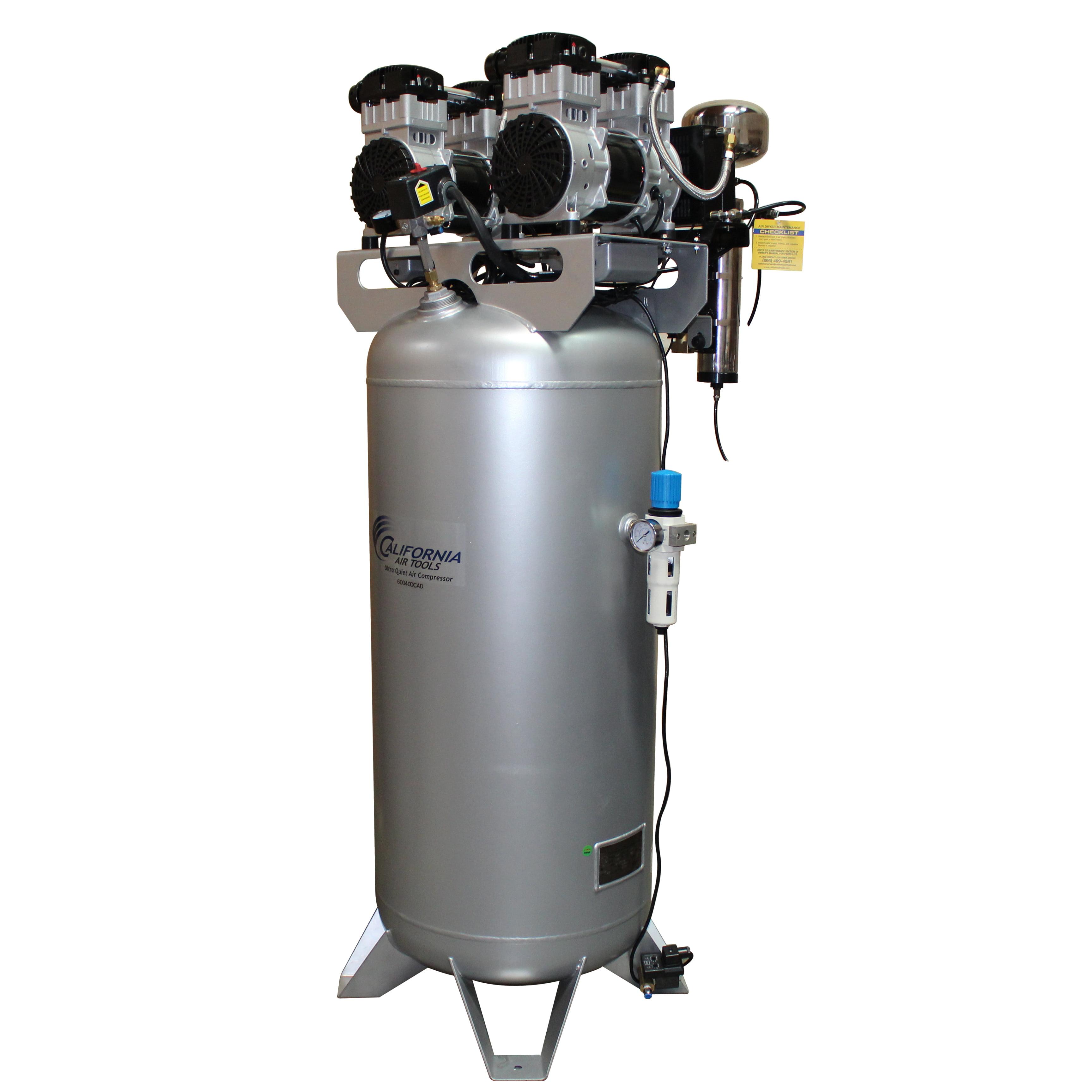 California Air Tools 60040DCAD Ultra Quiet & Oil-Free 4.0 Hp, 60.0 Gal. Steel Tank Air Compressor with Air... by California Air Tools