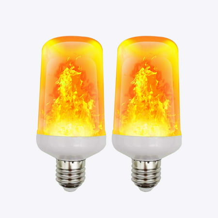 Lightahead LED Simulated Realistic Burning Fire Flame Effect Flickering Light Bulb (2 - Halloween Flickering Light Bulbs