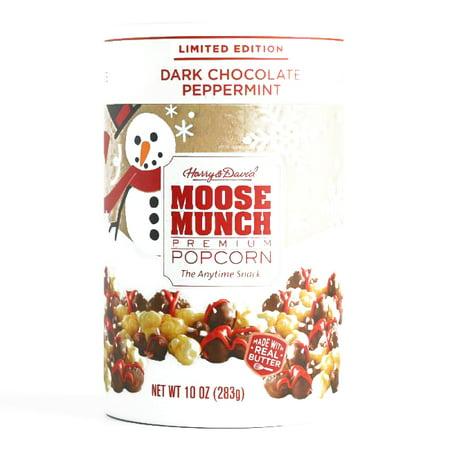 Harry & David Dark Chocolate Peppermint Moose Munch Popcorn 10 oz each (2 Items Per Order, not per case) - Harry And David Halloween Cookies