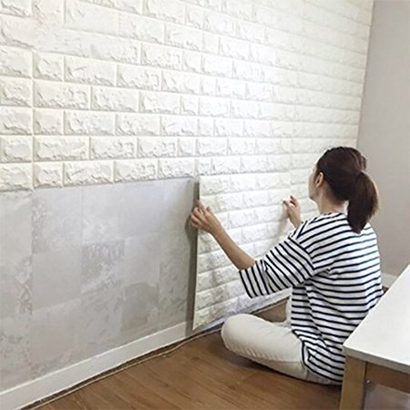 Jeobest 1pc 3d Brick Wall Stickers 3d Brick Wallpaper Peel And Stick Bricks Wallpaper 3d Waterproof Pvc Self Adhesive Brick Wall Sticker For