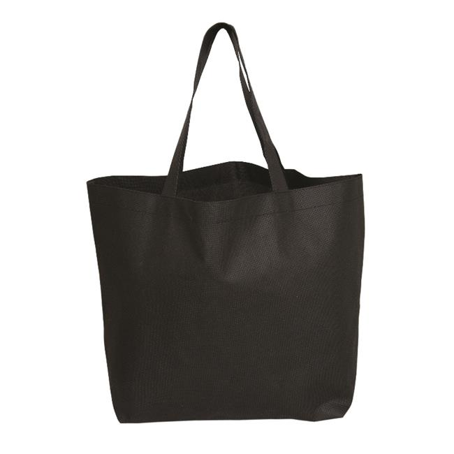 Debco NW6351 Ah Ya Oversize Non Woven Tote - Black  - 12 Pack - image 1 of 1