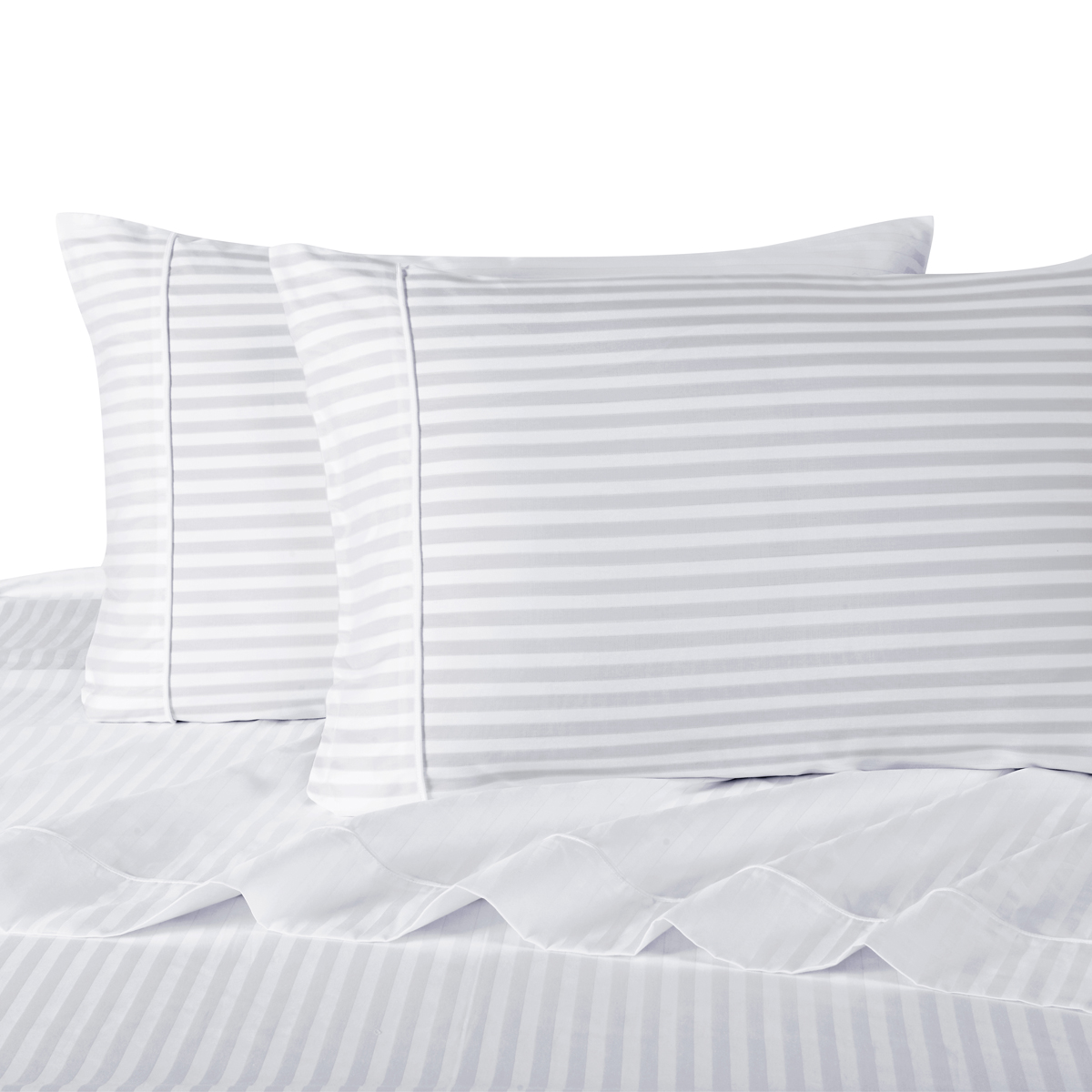 Ultra Soft & Exquisitely Smooth Genuine 100% Combed Cotton Striped 300 Thread Count Sheet Sets Deep Pocket Set
