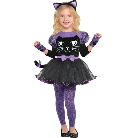 Suit Yourself Miss Meow Cat Costume for Girls, Includes a Dress, Fingerless Gloves, a Headband, and (Child's Cat Costume Uk)