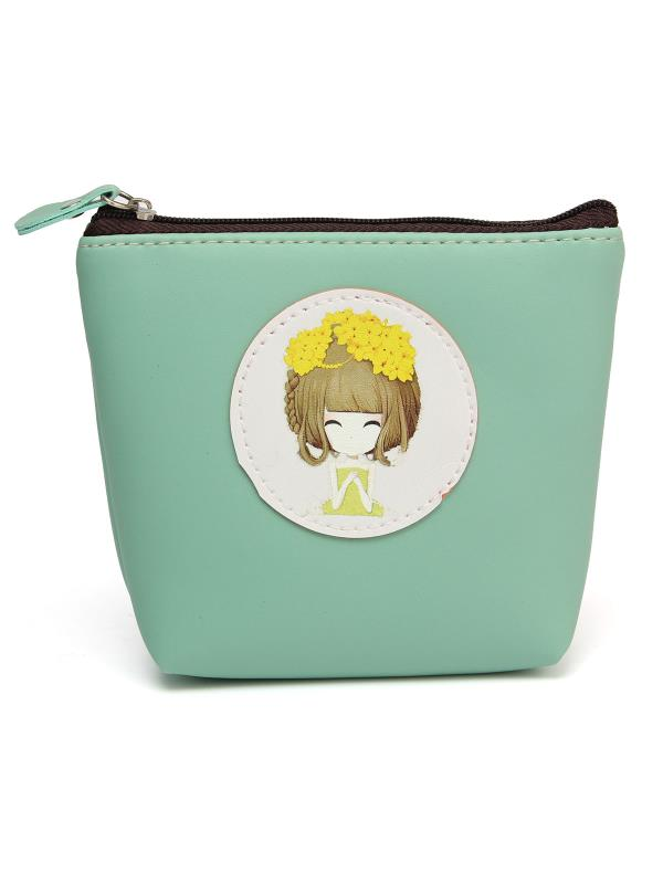 Fashion Women Candy Color Flower Girl Change Purse Coin Bag