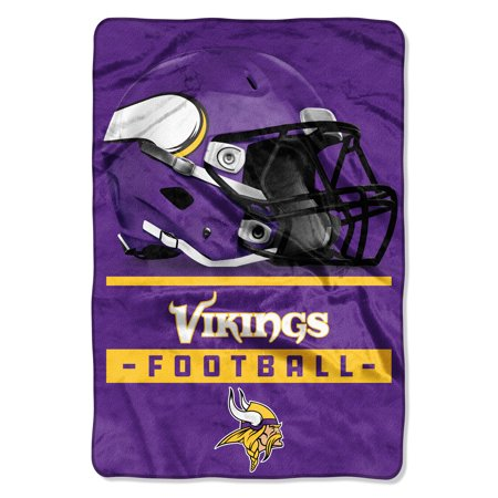 "NFL Minnesota Vikings Sideline 62"" x 90"" Oversized Micro Raschel Throw Blanket, 1 Each"