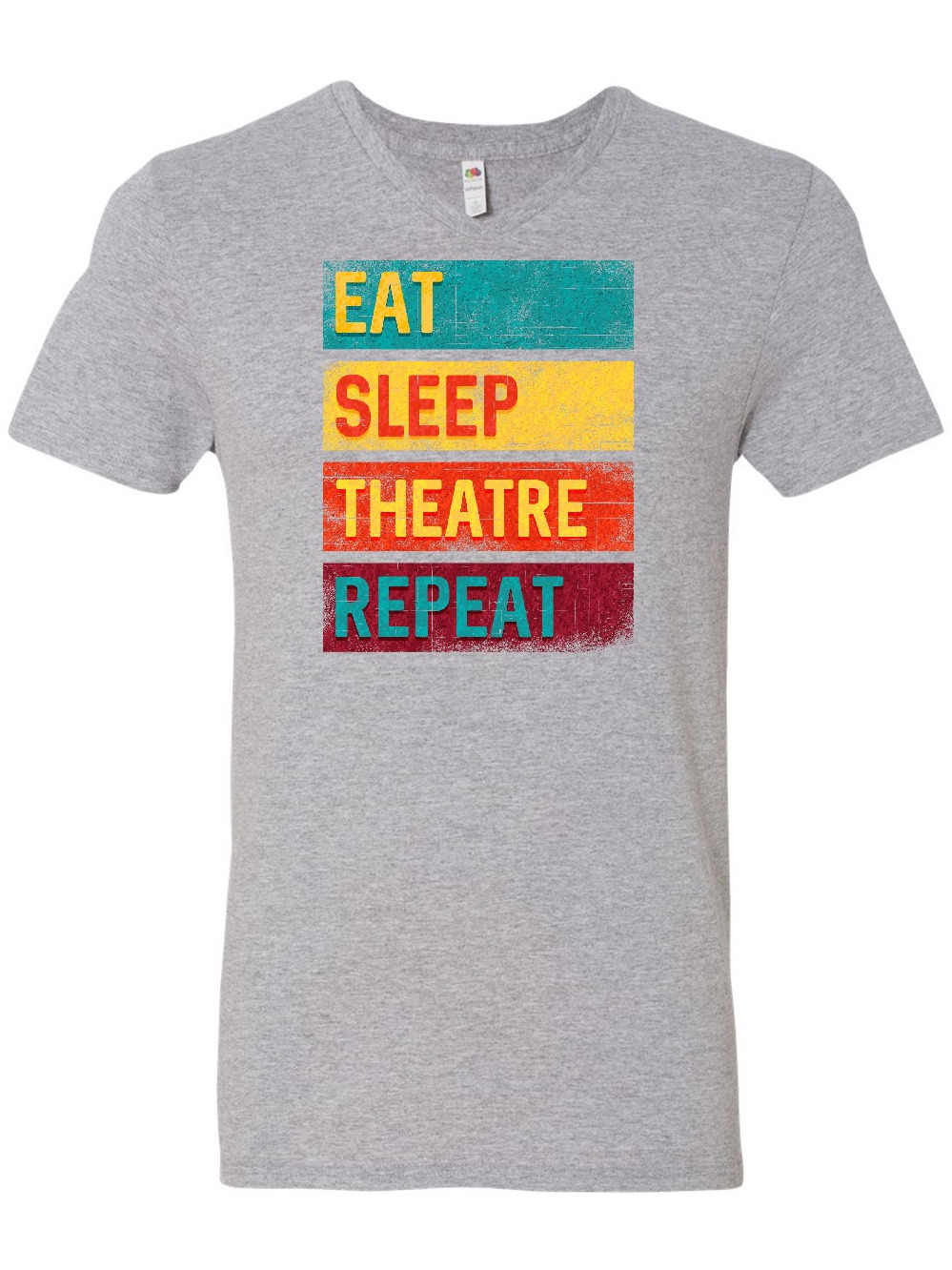 inktastic Eat Sleep Theatre Repeat Drama Gift for Actor Baby T-Shirt