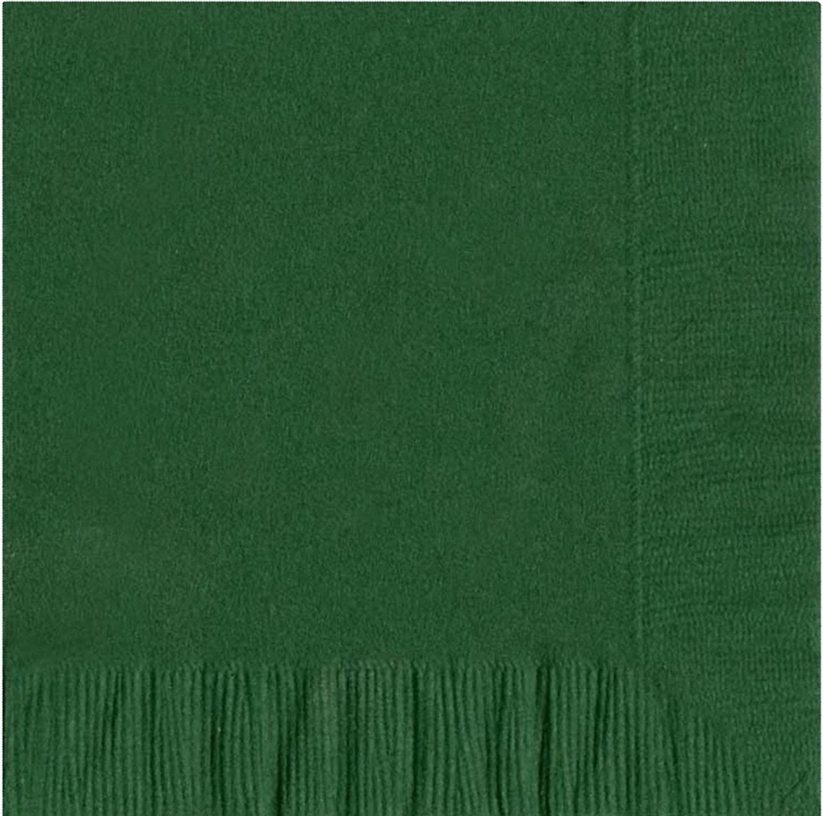 50 Plain Solid Colors Luncheon Dinner Napkins Paper - Hunter Green
