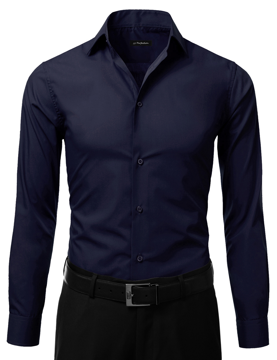 Jj Perfection Men's Slim Fit Long Sleeve Button Down Dress