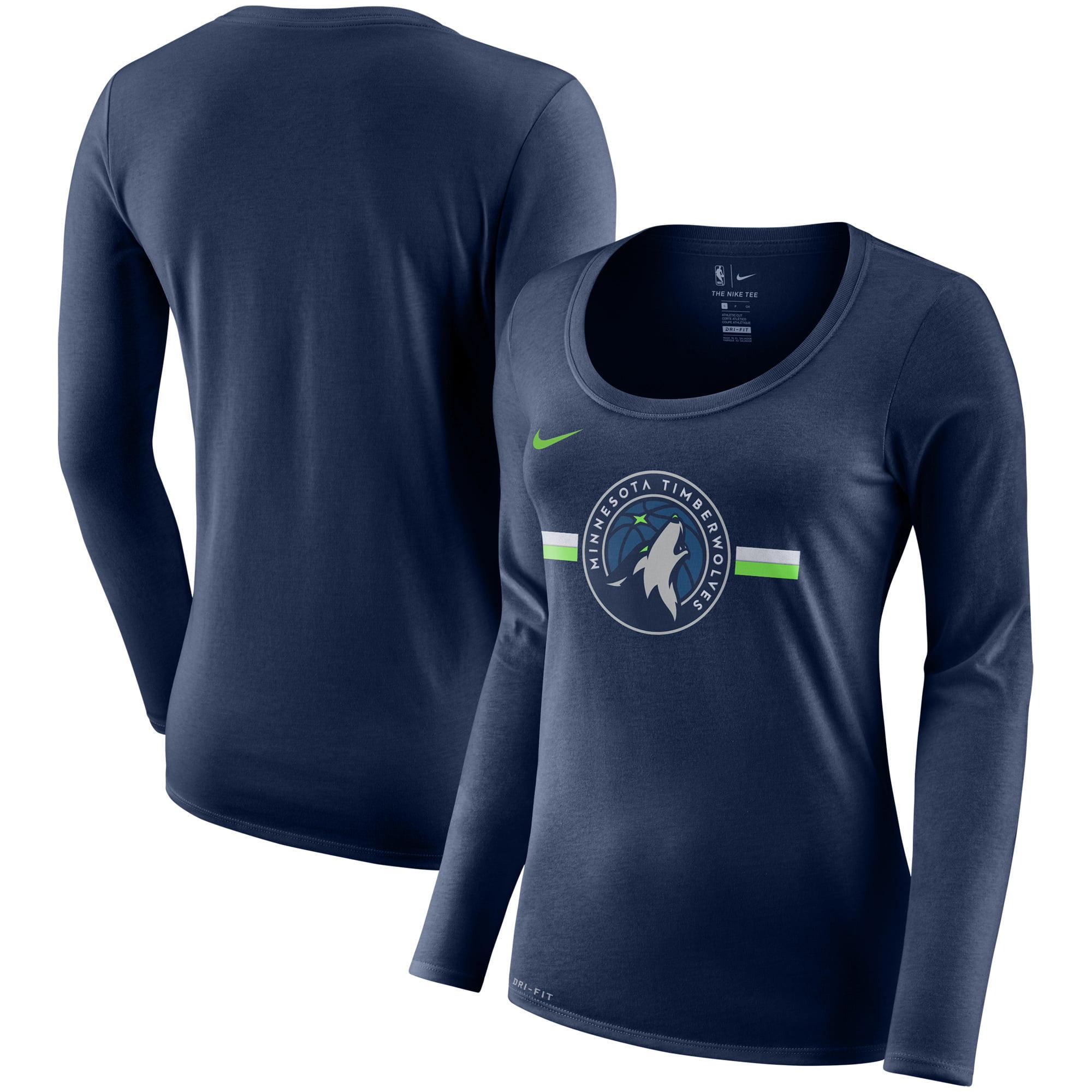 Minnesota Timberwolves Nike Women's Essential Logo Performance Long Sleeve T-Shirt - Navy