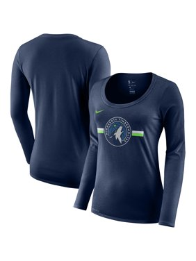 9f51e5a1 Product Image Minnesota Timberwolves Nike Women's Essential Logo  Performance Long Sleeve T-Shirt - Navy