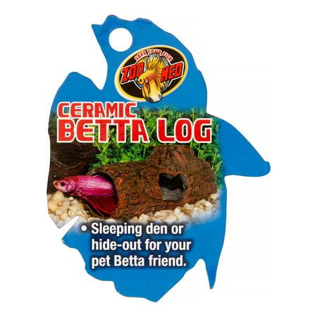 Zoo Med Betta Ceramic Log Betta Fish Hideout