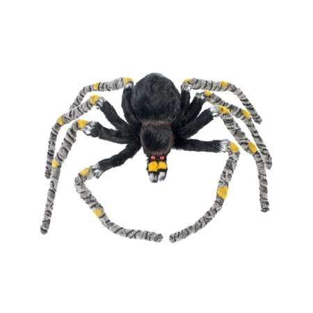 Creepy Crawler Yellow Striped Spider Prop Halloween Decoration - Creepy Halloween Makeup Diy