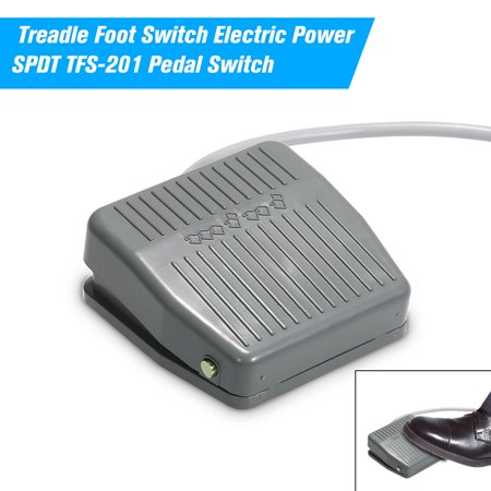 Treadle Foot Switch Electric Power SPDT TFS-201 Pedal Switch DC5-48V / AC24-250V 10A Momentary Control NO/NC Latching Reset Switch ()