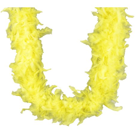 Yellow Feather Boa (Midwest Design Chandelle Feather Boa)