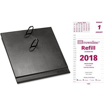 2018 Daily Calendar Set, includes refill and base, compare to At-A-Glance E717-50 and -